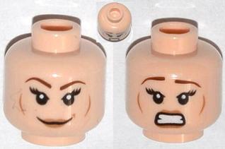 Lego Light Flesh Head Dual Sided Smiling Scared Jack S