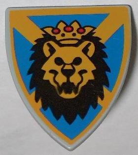 Lego Castle King Leo Minifigure Shield Triangular w// Lion Head Pattern 3846px5