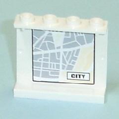 Lego 1x panel 1x4x3 map street pattern 8 /'city/' pattern 7743 4215bpb20
