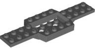 Lego Vehicle Base Dark Bluish Grey x 6 Part No 52036