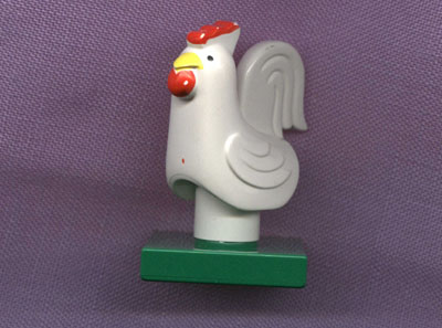 Bricker part lego 6312c01pb01 duplo chicken rooster for Modele maison lego duplo