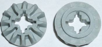 light gray 2 x LegoTechnic 6589 Gear 12 Tooth Bevel