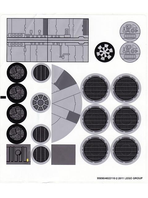 Bricker - Part LEGO - 7965stk01 Sticker for Set 7965 - (95690/4622110)