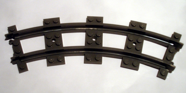45 Lego Black narrow Train Track Rail roller coaster hill /& curved 85976