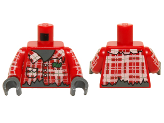 LEGO Dark Gray Minifig Head Modified Werewolf w// Smooth Hair /& Black Nose