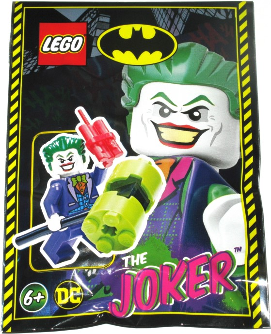 LEGO DC Super Heroes sh515 10753 Joker Lime Bow Tie Minifigure Good Condition
