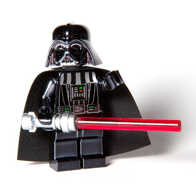 Bricker Construction Toy By Lego 4547551 Chrome Black Darth Vader
