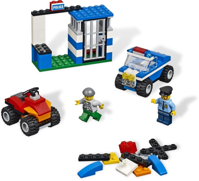Bricker Construction Toy By Lego 4636 Police Building Set