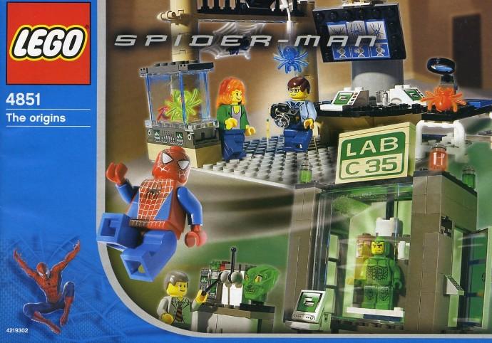 Bricker lego minifigure spd001 spider man 1 - Lego the amazing spider man 3 ...