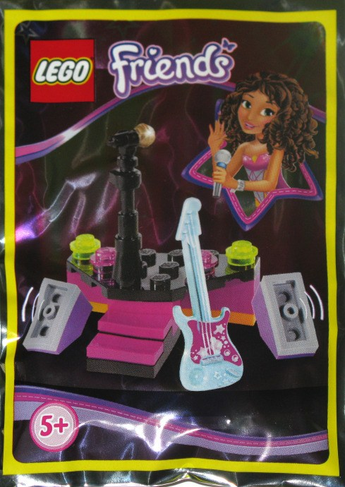 Silver Strings /& Stars on Magenta Background Utensil Guitar LEGO Minifig