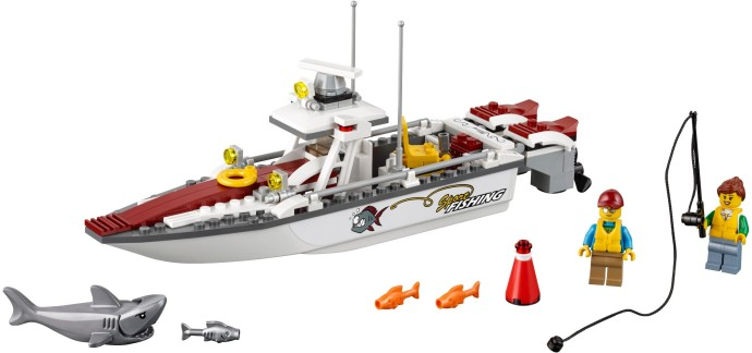 Boat Hull Unitary 28 x 8 Complete Assembly White and Grey Lego 92710c01
