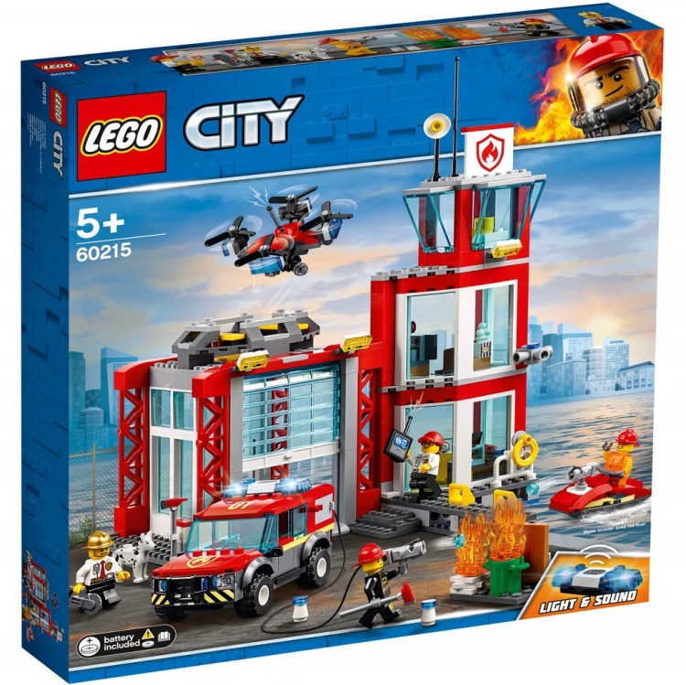 bricker construction toy by lego 60215 fire station. Black Bedroom Furniture Sets. Home Design Ideas
