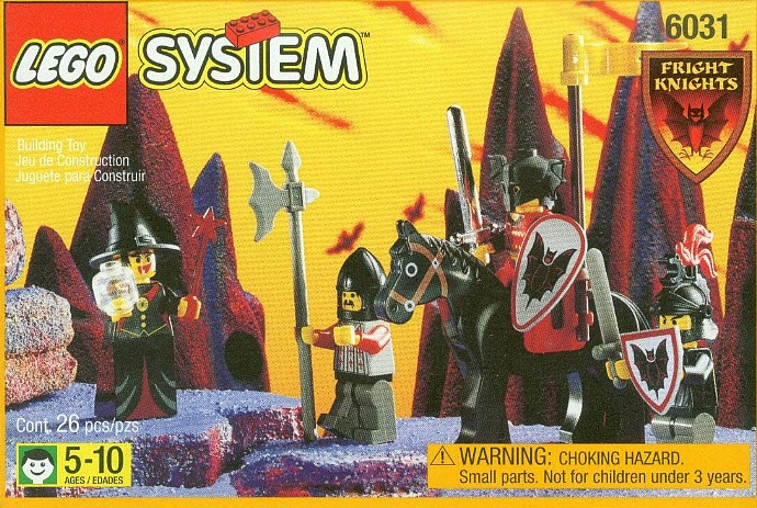 Lego 2586p4f @ polybag shield ovoid with black and red bat pattern