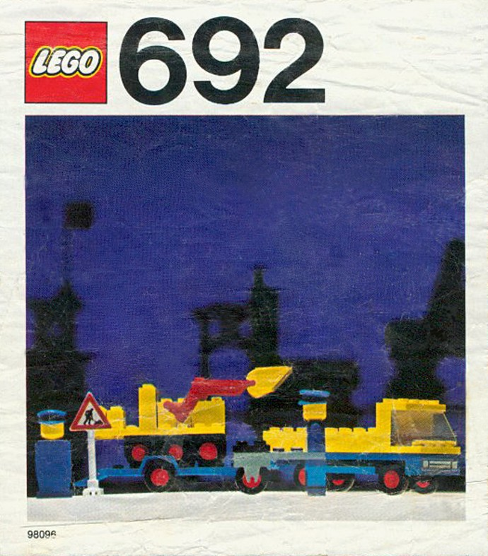 LEGO 3003pb008 Blue Brick 2 x 2 with Lego Logo Old Style White with Black Outlin