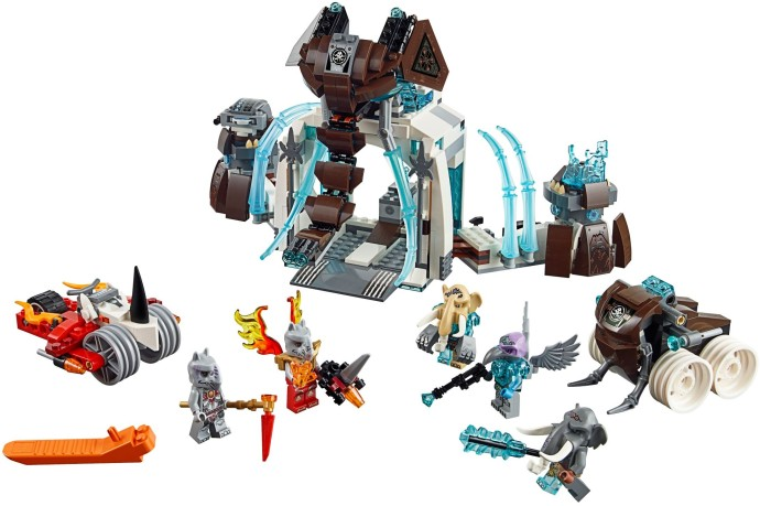 Lego 1x Rock Panel 2x4x3 Fractures Chima Ice Cage 15091 Trans Light Blue//Bleu