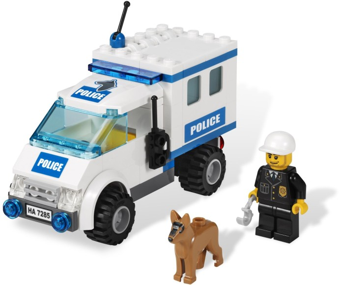 Bricker Construction Toy By Lego 7285 Police Dog Unit