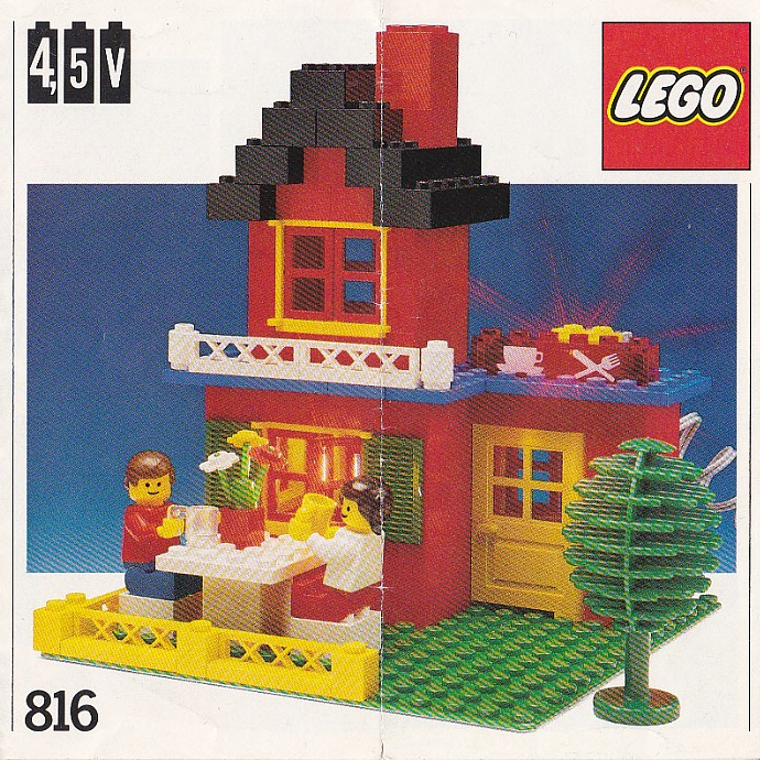 LEGO Red Brick 1x2 with Cable Holding Cutout 3134 set 6399 4558 10001 7720...