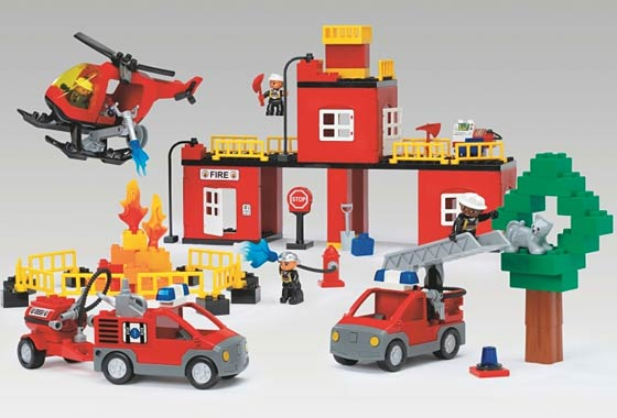 lego duplo fire station 5601 instructions