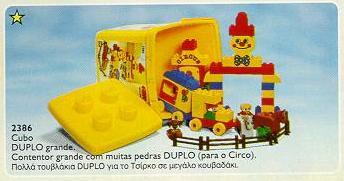 Bricker Construction Toy By Lego 2386 Circus Bucket