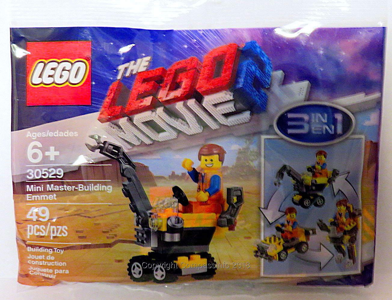 Lego 30529 Mini Master Building Emmet  Lego Movie 2 Polybag New and sealed...
