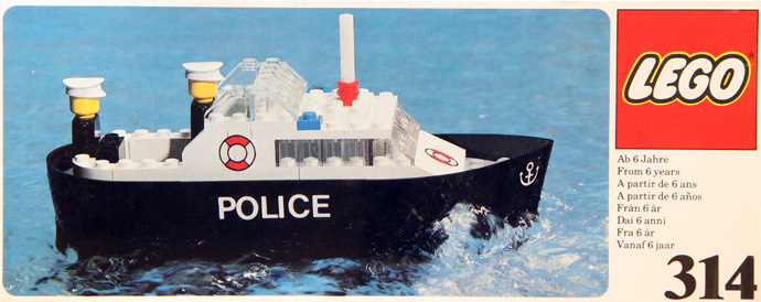 Bricker - Construction Toy by LEGO 314 Police Boat