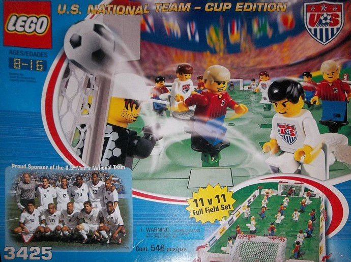 Lego 3425-3 grand championship cup us men's team cup edition set.