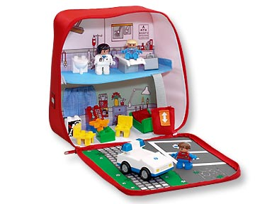 Bricker Construction Toy By Lego 3617 On The Move Hospital