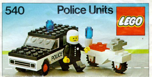 Bricker - Construction Toy by LEGO 540-2 Police Units