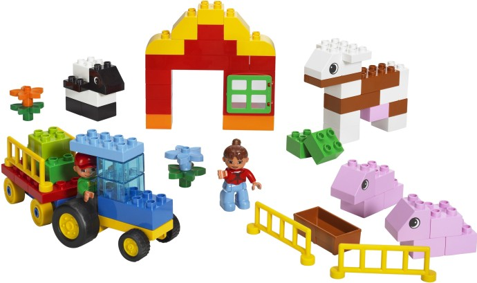 Bricker Construction Toy By Lego 5488 Duplo Farm Building Set
