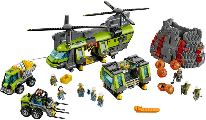 Bricker - Construction Toy by LEGO 60125 Volcano Heavy-Lift Helicopter