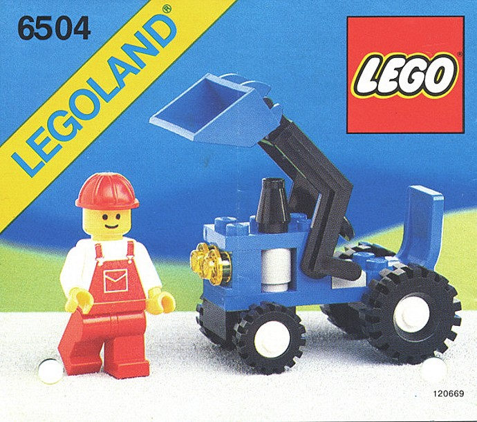 Bricker Construction Toy By Lego 6504 Tractor