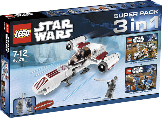 Bricker - Construction Toy by LEGO 66378 Star Wars Super Pack 3 in 1