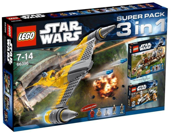 Bricker - Construction Toy by LEGO 66396 Star Wars Super Pack 3 in 1