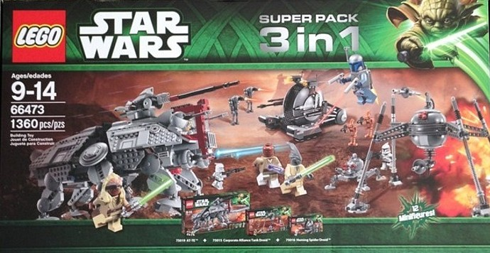 Bricker - Construction Toy by LEGO 66473 LEGO Star Wars Super Pack