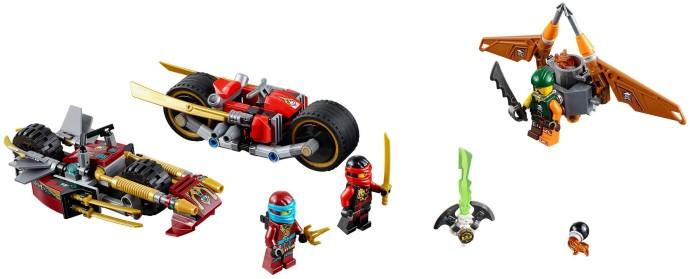 Bricker - Construction Toy by LEGO 70600 Ninja Bike Chase
