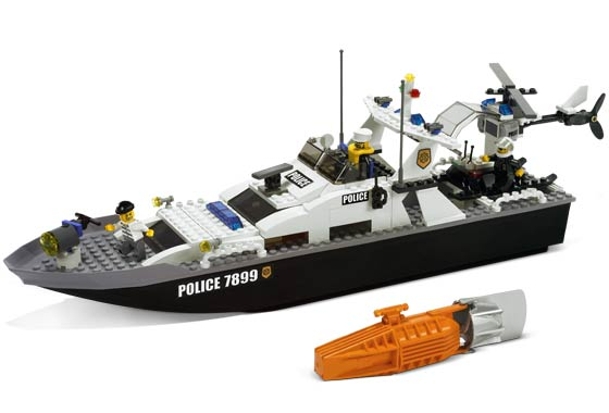 Bricker - Construction Toy by LEGO 7899 Police Boat
