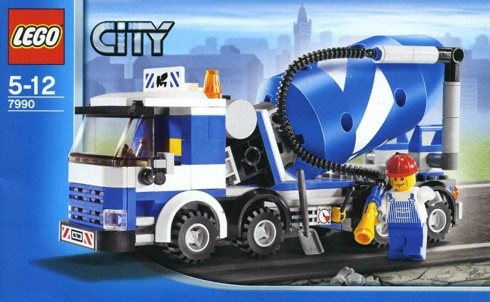 Bricker Construction Toy By Lego 7990 Cement Mixer