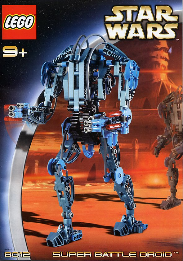 Bricker Construction Toy By Lego 8012 Super Battle Droid