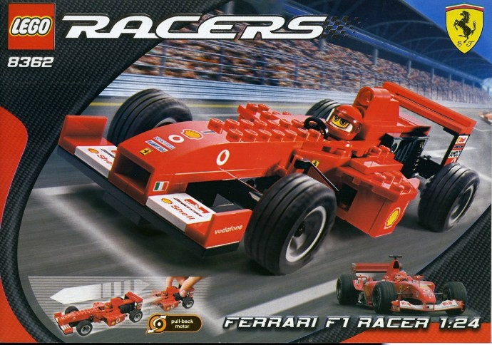 bricker construction toy by lego 8362 ferrari f1 racer 1 24 scale. Black Bedroom Furniture Sets. Home Design Ideas