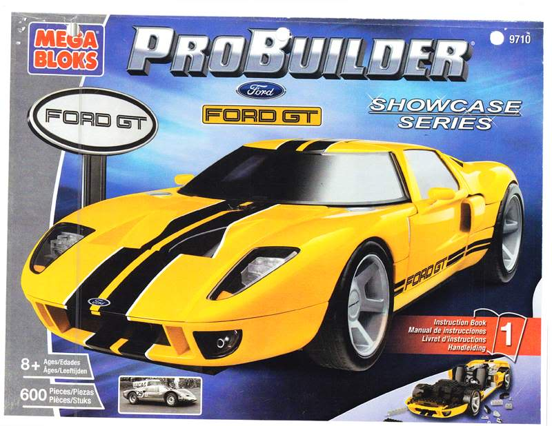 Bricker Construction Toy By Megabloks 9710 Ford Gt