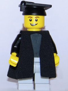 Robe Cloth BLACK Split in Front Graduation Gown Minifig LEGO