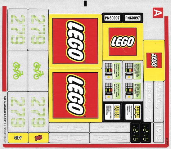 Bricker - Part LEGO - 60097stk01 Sticker for Set 60097 - Sheet 1 ...