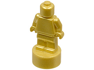 Trophy NEW 1 x LEGO 90398 Micro Minifigure Statuette Trophée noir, black