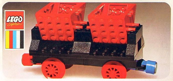 LEGO vintage train red tipper end 3145 set 130 724 371 181 180 171 ...
