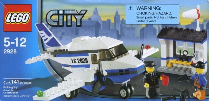 Lego 2377p01 1 x 2 x 2-WINDOW PRINT Disc Blue White POLICE-POLICE