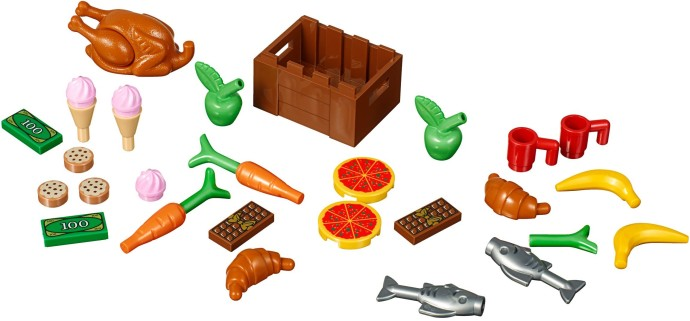 5 NEW LEGO Tile,Round 1 x 1,Cookie Frosting,Chocolate Sprinkle Medium Dark Flesh