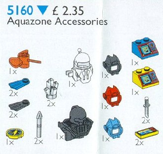 LEGO x40 @@ Minifig Headgear Helmet Underwater with Antenna and Clips