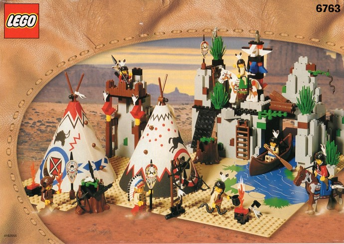 Fringe Pattern LEGO Hips and Legs with Western Indians Red//White Triangles