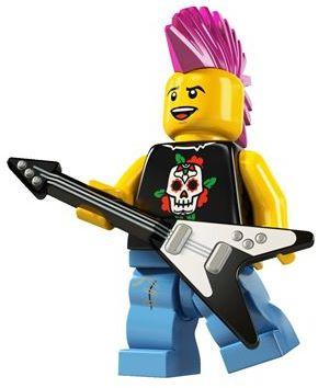 LEGO Black Minifig Utensil Guitar Flying V